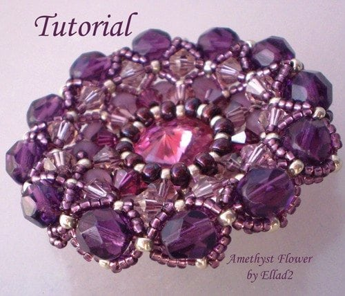 Beading tutorial Amethyst-Flower