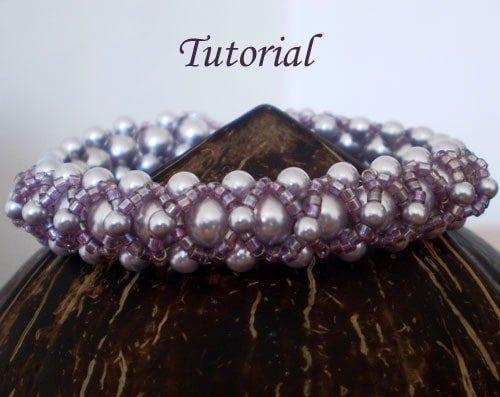 Beading Tutorial Lilac bracelet