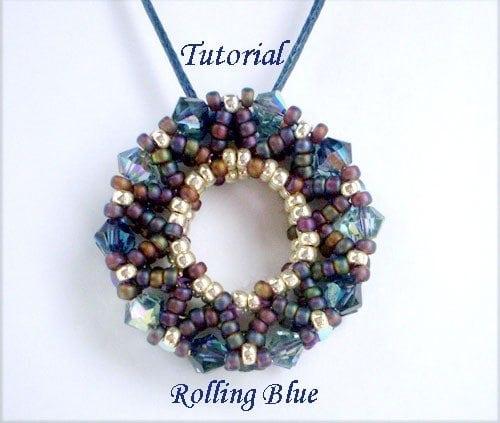 Beading Tutorial Rolling Blue