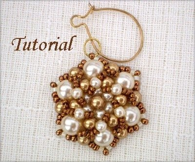 Beading Tutorial Pearly Flower
