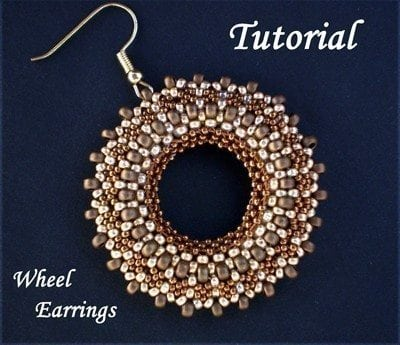 Beading TUTORIAL Wheel Earrings