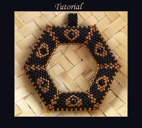 Beading Tutorial Beaded hexagram Ellad2