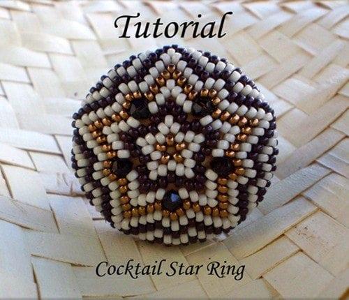 Beading Tutorial Cocktail Star Ring