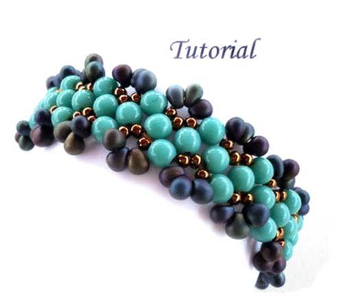 Beading-Tutorial-Aruba-Blue-bracelet-by-ellad2