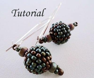 Beading Tutorial Beaded Bead Earrings III