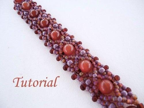 Beading Tutorial Carnelian Bracelet