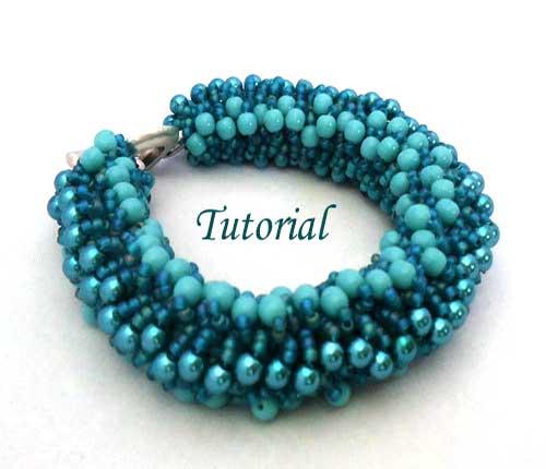 Beading Tutorial True Blue Bracelet