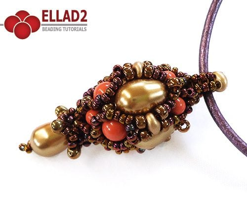Beading Tutorial Neha pendant by Ellad2