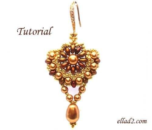 Beading Tutorial Sunflower Earrings
