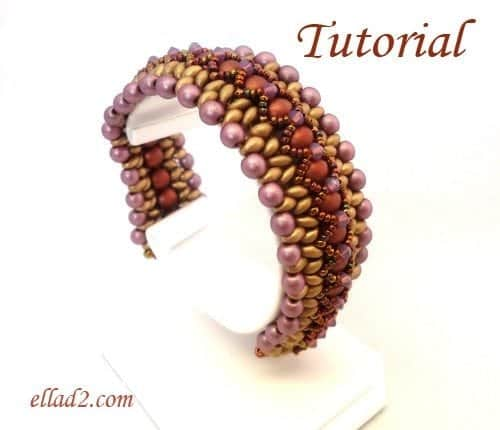 Beading Tutorial-Twin-X-bracelet