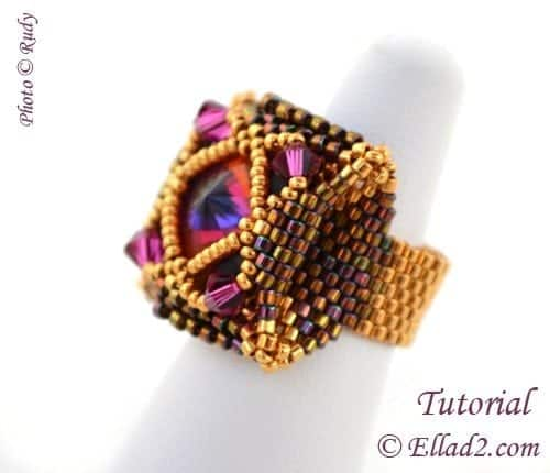 Beading Tutorial-Salinas-Ring by Ellad2