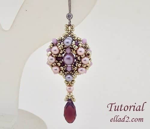 Beading Tutorial Leda Earrings by Ellad2