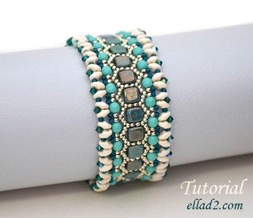 Beading Tutorial Honeycomb Bracelet by Ellad2