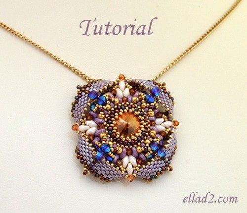 Beading tutorial Pendant Eterno by Ellad2