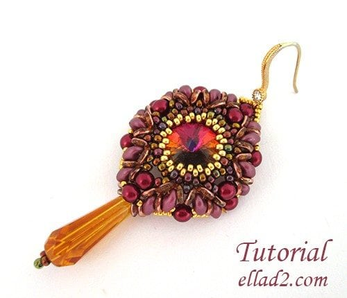 Beading Tutorial O-Earrings by Ellad2