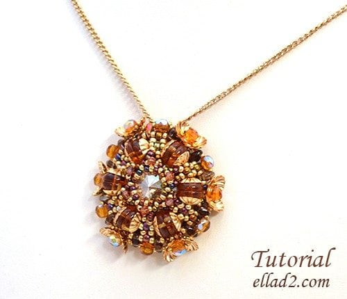 Beading Tutorial peata pendant by Ellad2