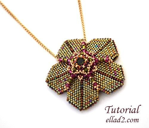Beading Tutorial Whimsical Pendant by Ellad2