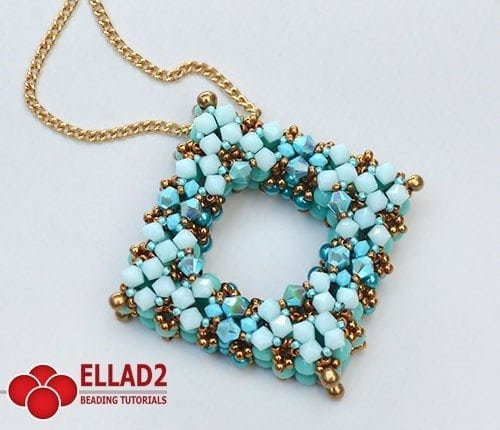 Beading-tutorial-Square-La Plaza Pendant-Ellad2