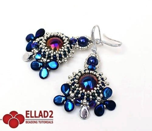 Beading Pattern Aylen Earrings