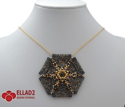 Beading-Tutorial-Amarande Pendant -by-Ellad2