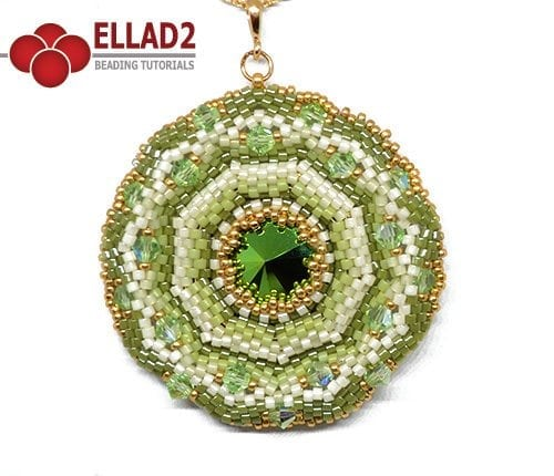 Beading Tutorial Agra Pendant by Ellad2