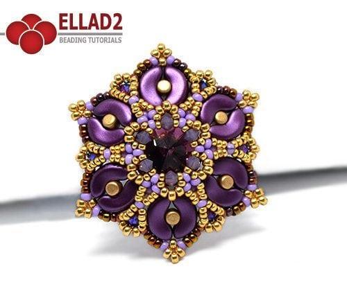 Beading Tutorial Kaya Pendant by Ellad2