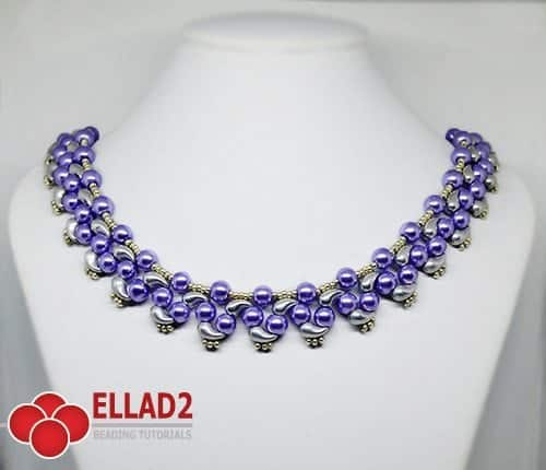Beading Tutorial Prisha Necklace with Zoliduo beads by Ellad2