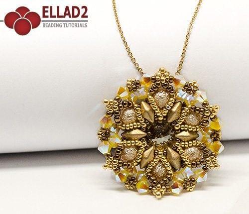 Beading Tutorial Mina Pendant by Ellad2