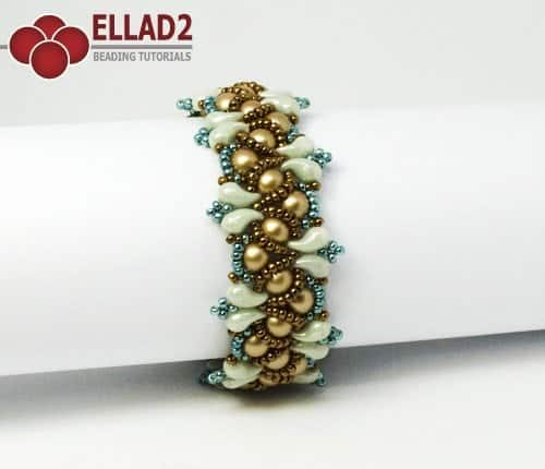 Beading pattern with Zoliduo beads Wave Bracelet by Ellad2
