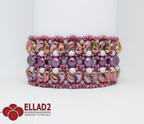 Beading Pattern Milun Bracelet with Zoliduo beads by Ellad2