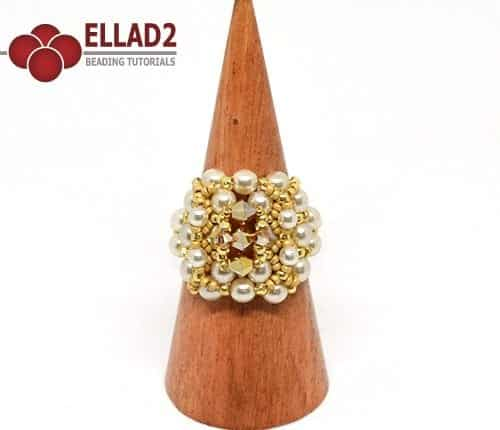 Beading Tutorial Vava Ring by Ellad2