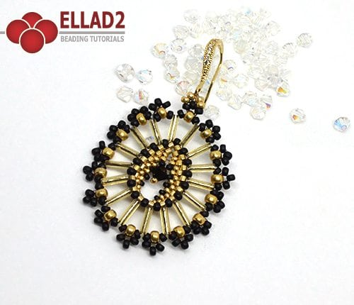 Beading tutorial Ava Earrings with Miyuki bugles
