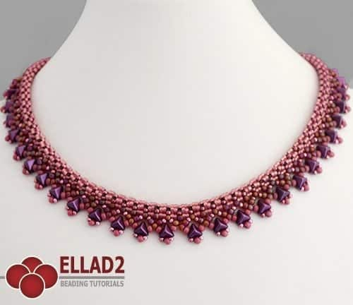 Tri Necklace Beading Tutorial with Kheops beads by Ellad2