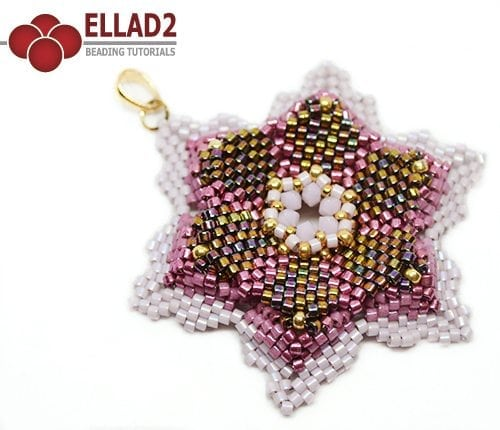 Beading tutorial Keya Pendant in peyote stitch by Ellad2