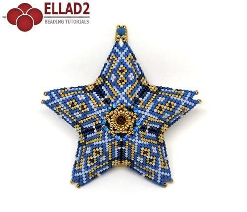 Beading Pattern Star in Peyote stitch by Ellad2