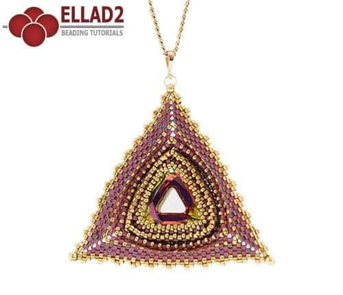 Beading Tutorial Maya Triangle pendant