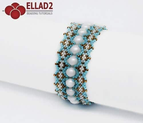 Beading Tutorial Sara Bracelet in peyote stitch by Ellad2