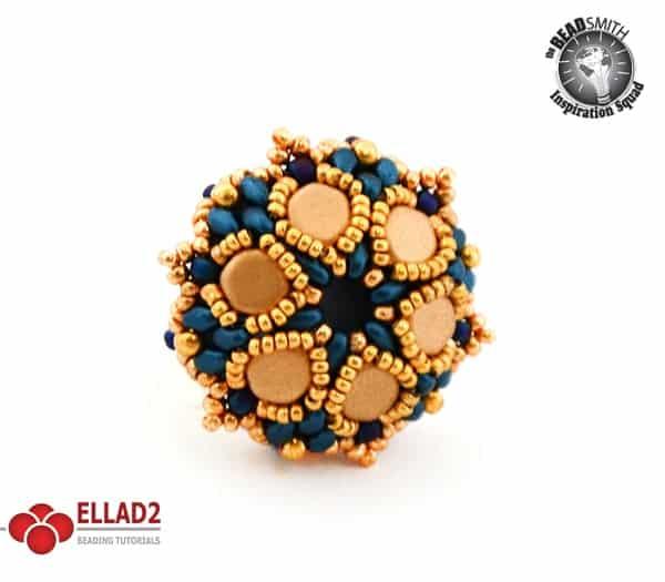 Honeycomb flower ring beading Tutorial by Ellad2