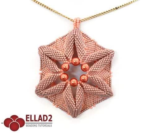 Beading Tutorial Coral Flower by Ellad2