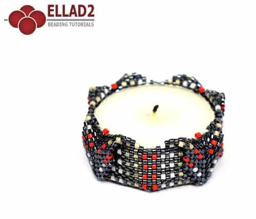 Beading Tutorial Tea Light Holder by Ellad2