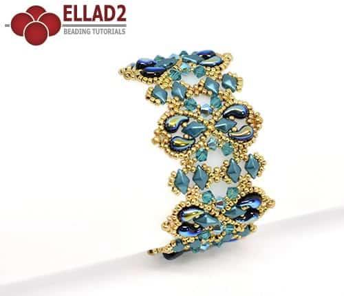 Beading Tutorial Alaska Bracelet by Ellad2