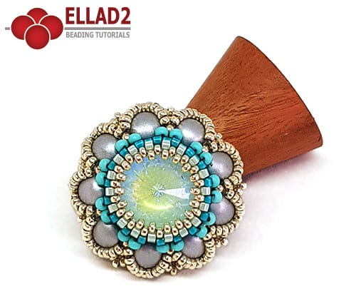 Beading Tutorial Lillian Ring by Ellad2