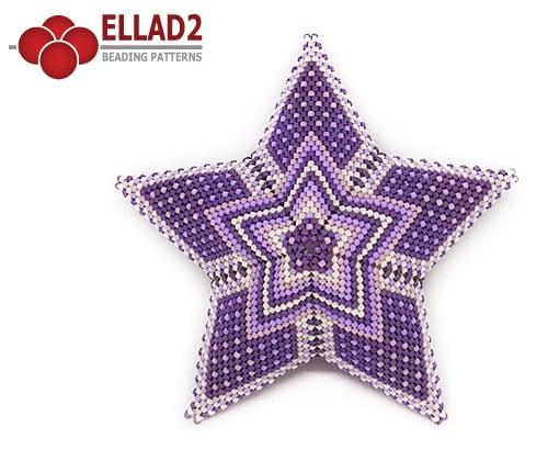 Beading Pattern 3D peyote star 4 by Ellad2