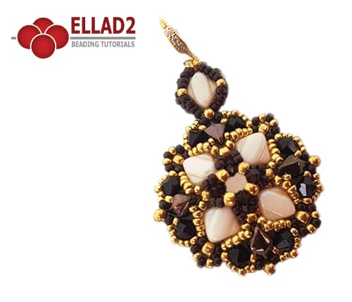 Beading Tutorial Silky Duo Earrings Ellad2 design