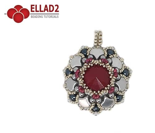 Beading Tutorial Ginko Pendant by Ellad2