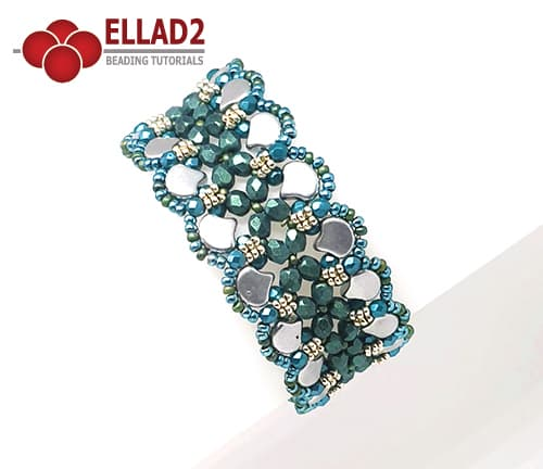 Beading Tutorial Ginko Bracelet by Ellad2