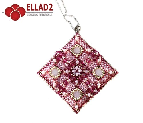 Beading Tutorial Quadrado Pendant by Ellad2
