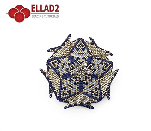 3D beaded star, peyote stitch